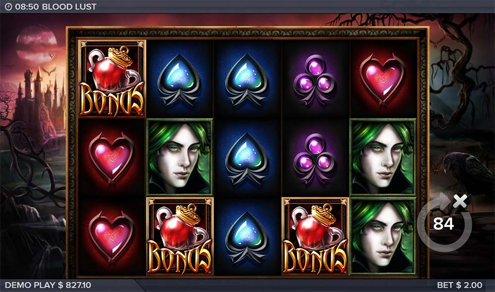 Blood Lust Slot - Bonus Trigger