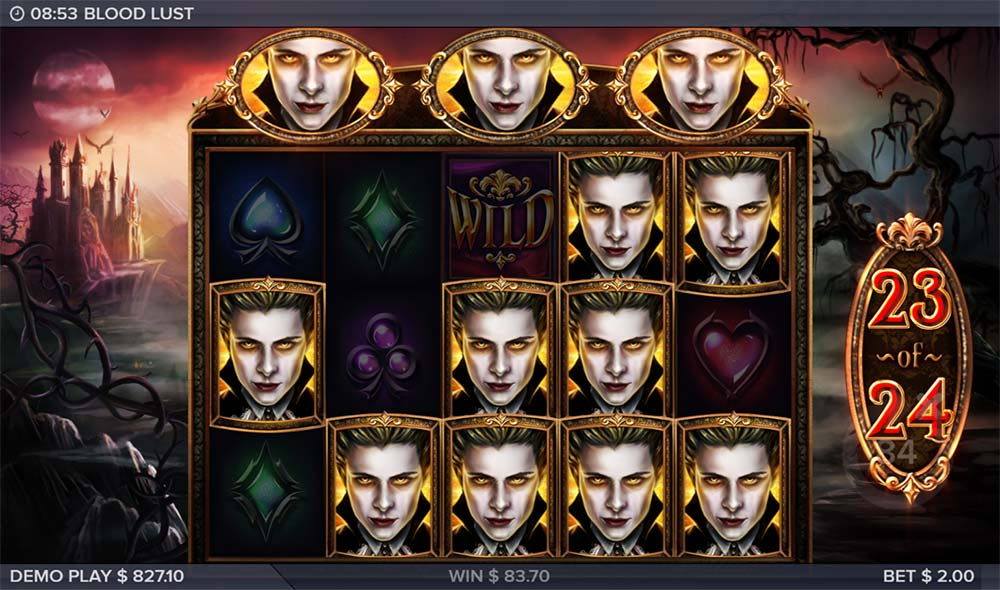Blood Lust Slot - Free Spins