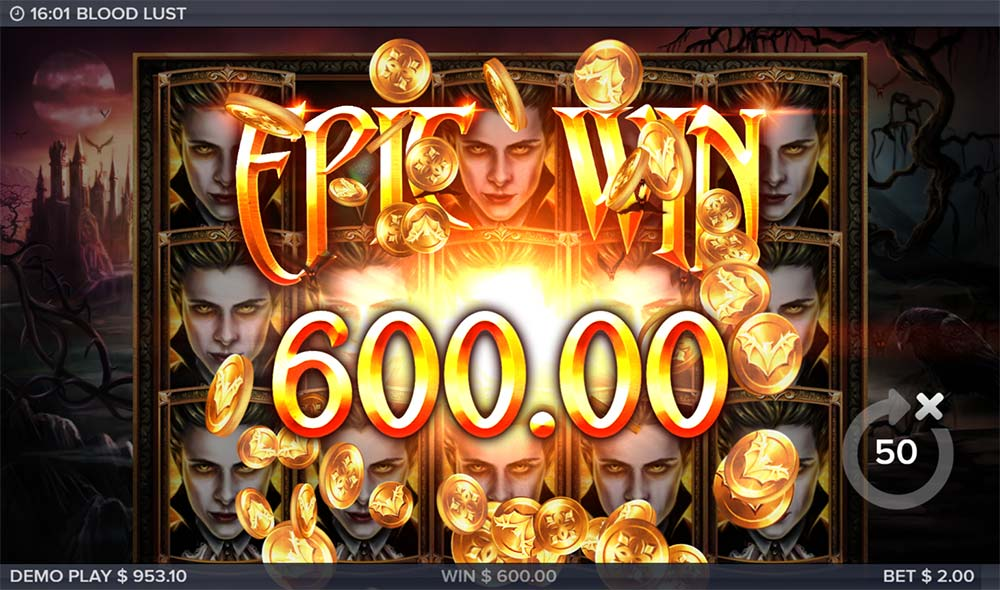 Blood Lust Slot - Epic Win