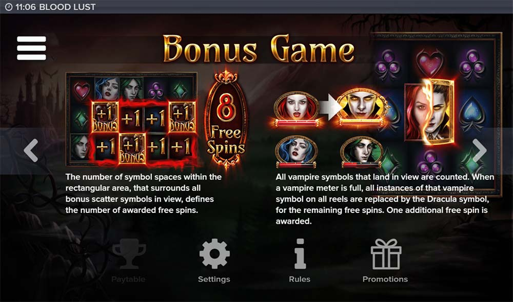 Blood Lust Slot - Bonus Feature