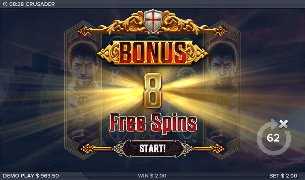 Crusader Slot - Free Spins