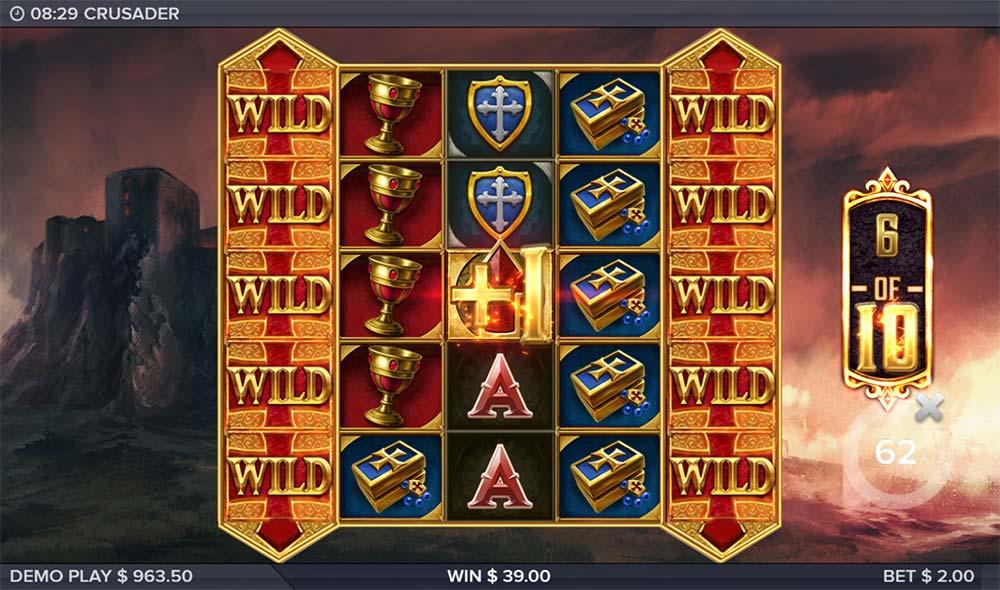 Crusader Slot - Expanding Reels