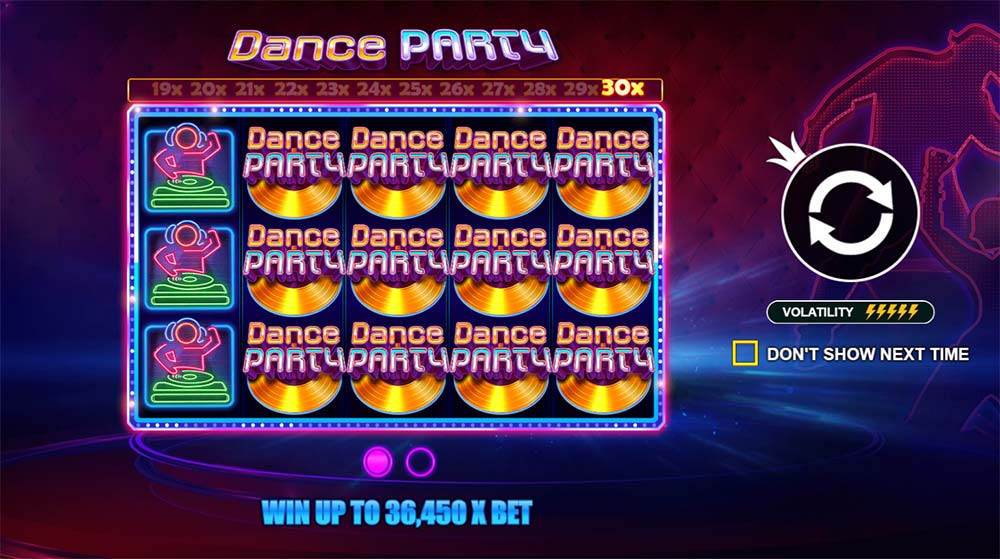 Dance Party Slot - Intro Screen