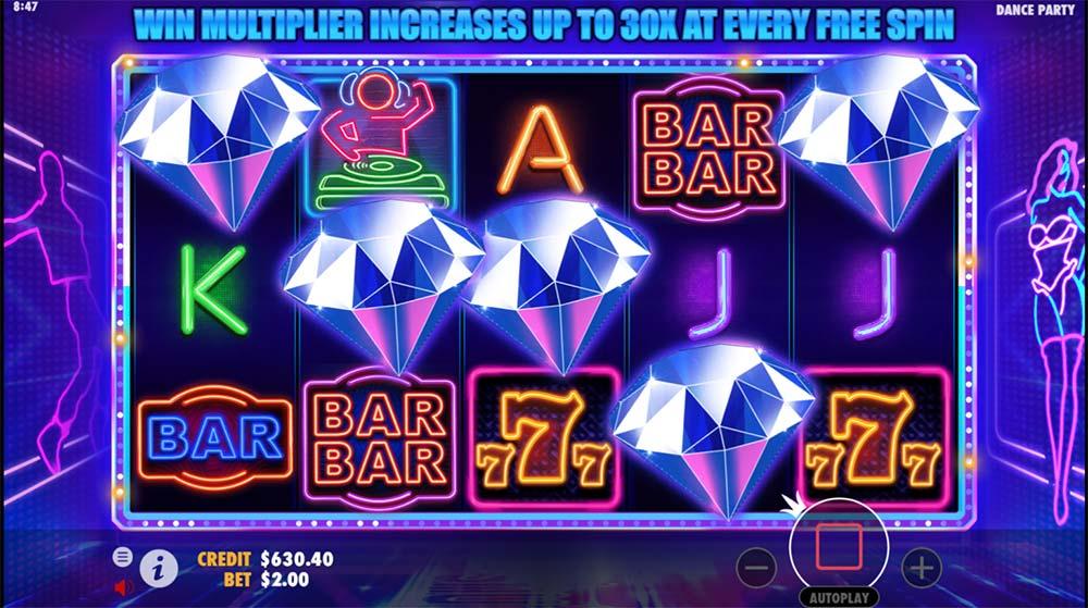 Dance Party Slot - Bonus Trigger