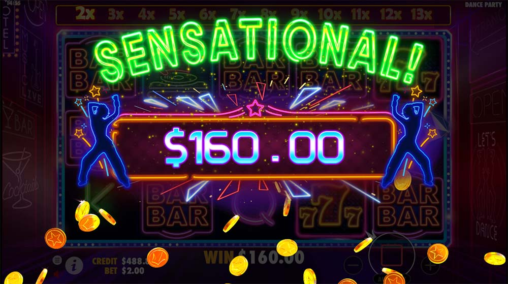 Dance Party Slot - Sensational Win