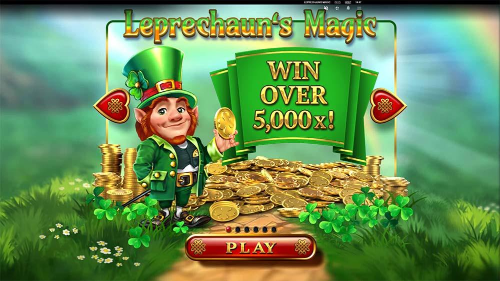 Leprechaun's Magic Slot - Intro Screen
