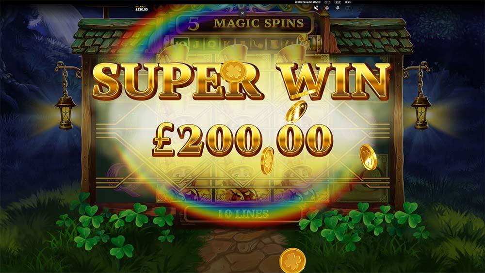 Leprechaun's Magic Slot - Super Win