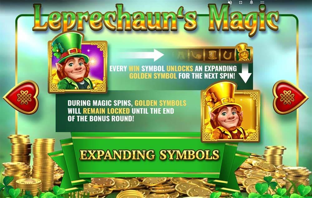 Leprechaun's Magic Slot - Expanding Symbols