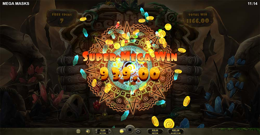 Mega Masks Slot - Super Mega Win