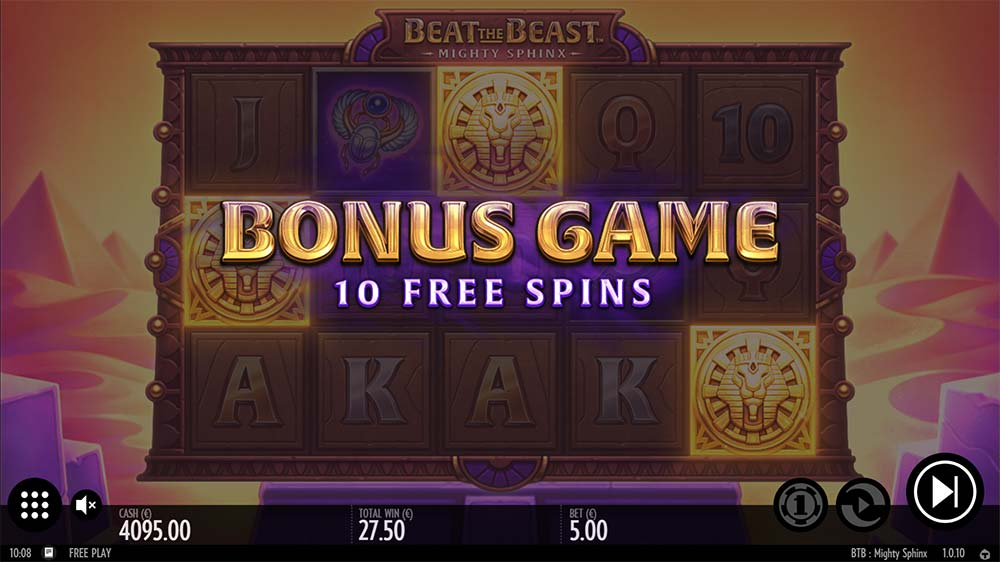 Mighty Sphinx Slot - Bonus Trigger