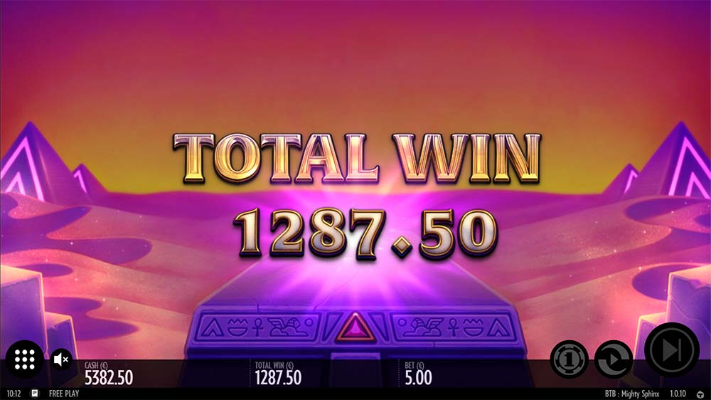 Mighty Sphinx Slot - Bonus End