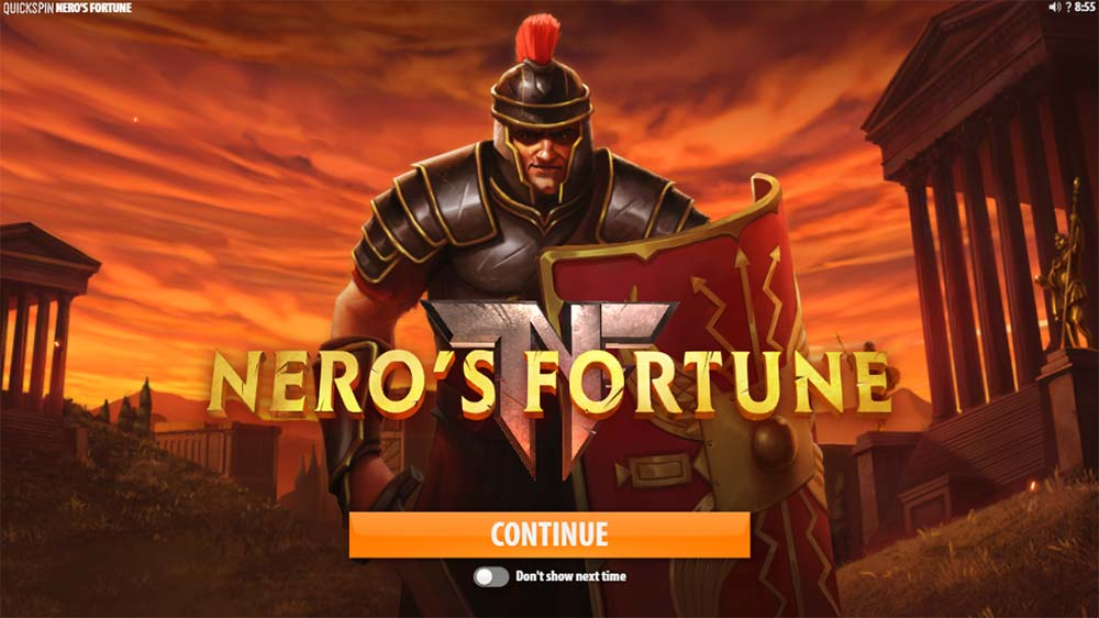 Nero's Fortune Slot - Intro Screen