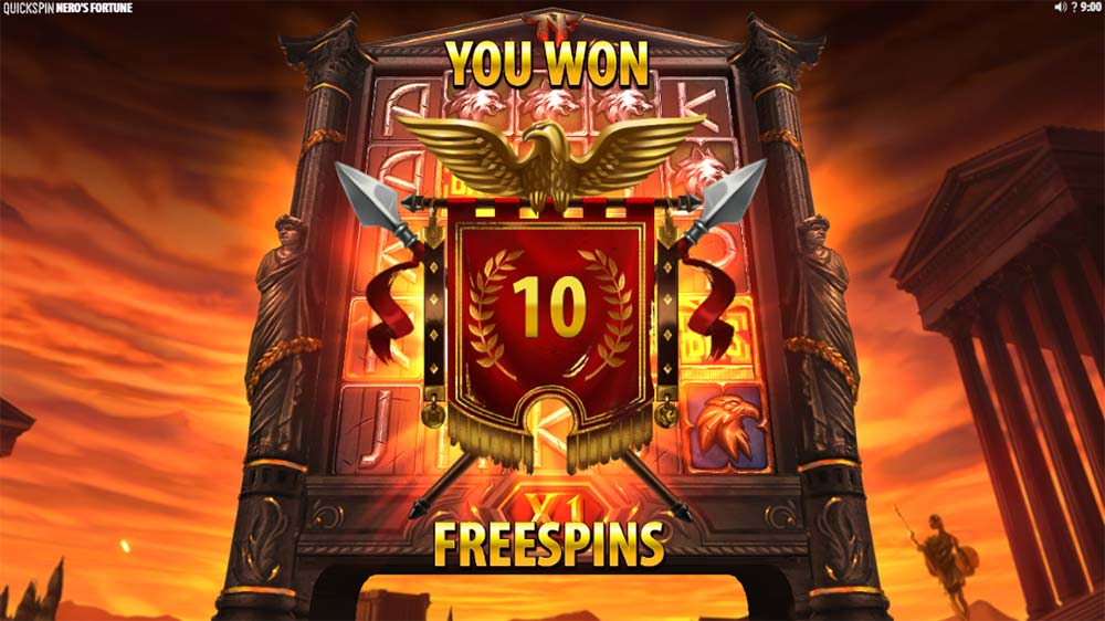 Nero's Fortune Slot - Free Spins