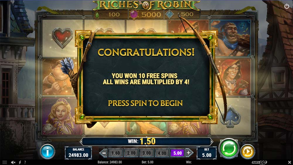 Riches of Robin Slot - Bonus Start