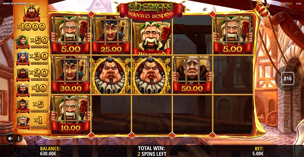 Sheriff of Nottingham Slot - Wanted Respins