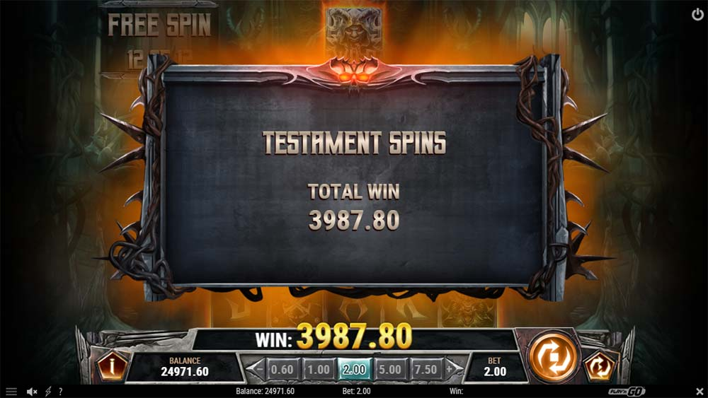 Testament Slot - Bonus End
