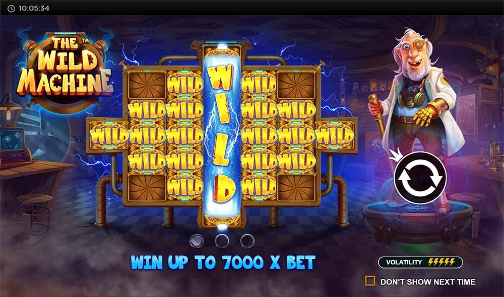 The Wild Machine Slot - Intro Screen