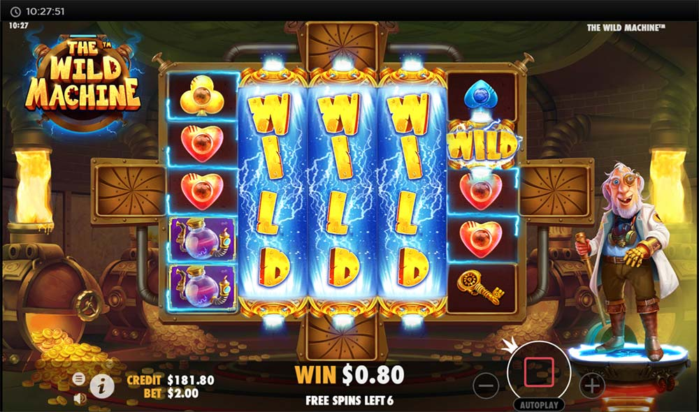 The Wild Machine Slot - Gold Foundry Free Spins