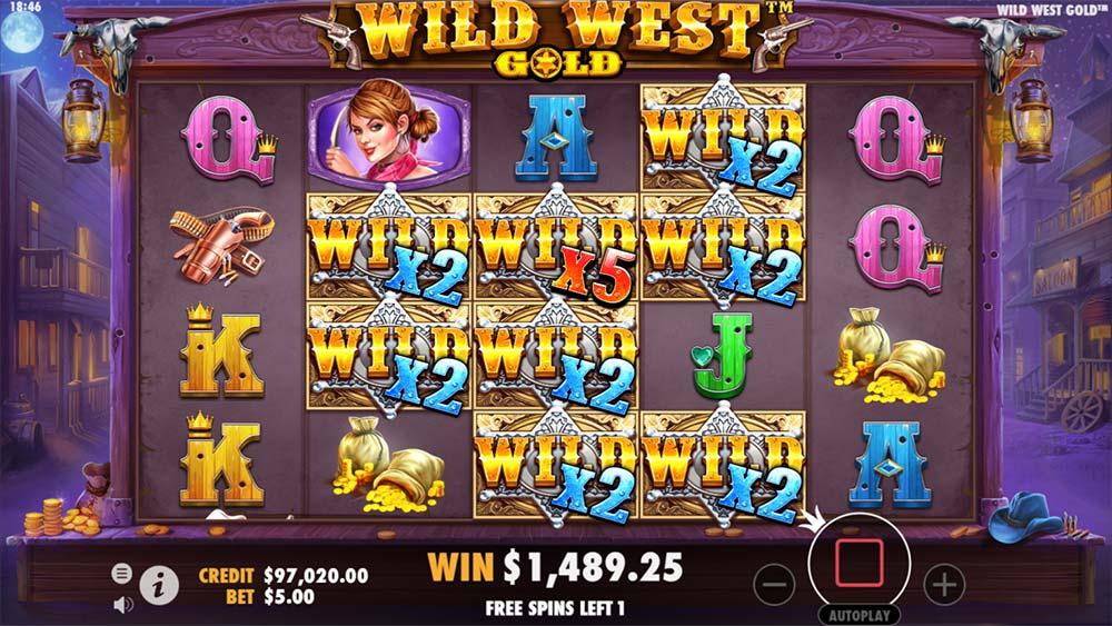 Wild West Gold Slot - Sticky Multiplier Wilds