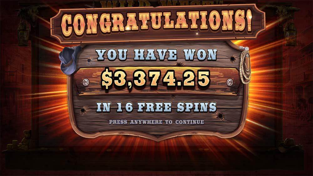 Wild West Gold Slot - Bonus End