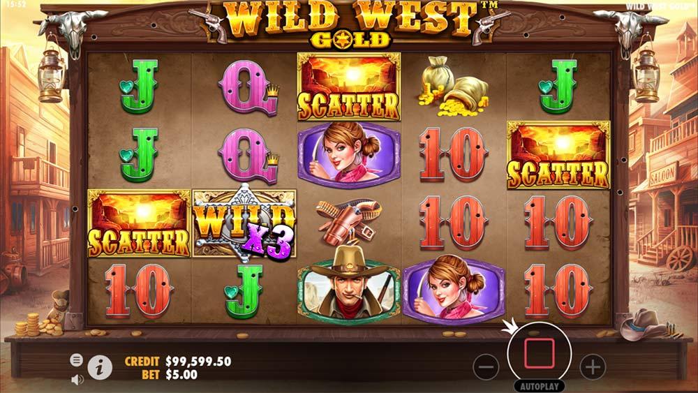 Wild West Gold Slot - Bonus Trigger