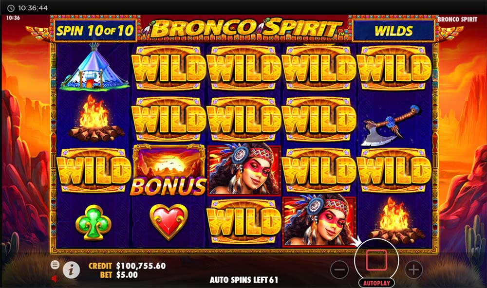 Bronco Spirit Slot - Added Wilds Feature