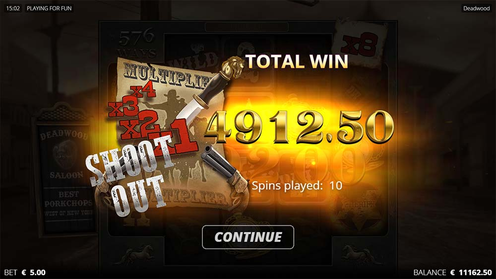 Deadwood Slot - Bonus End