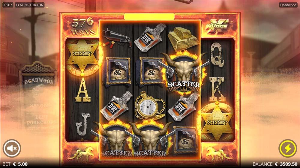 Deadwood Slot - 5 Scatter Trigger