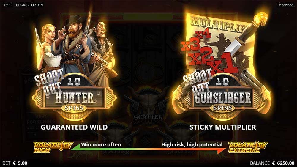 Deadwood Slot - Free Spins Options