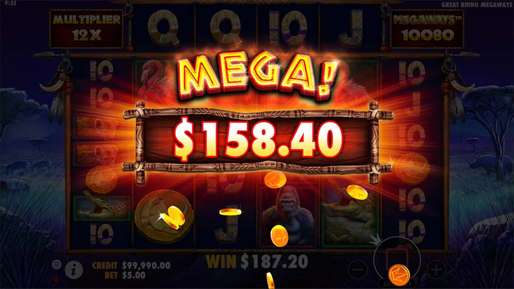Great Rhino Megaways Slot - Mega Win