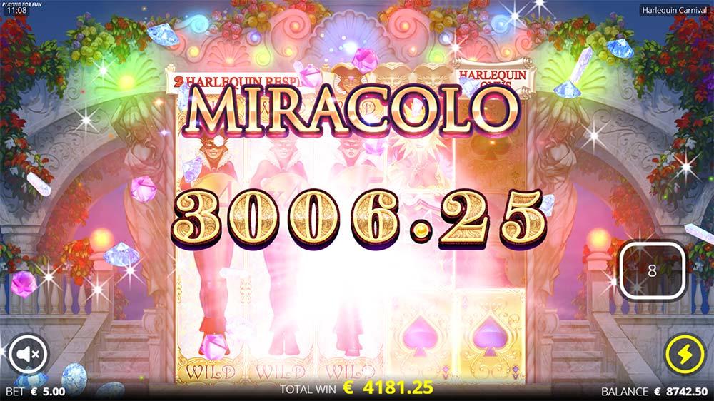 Harlequin Carnival Slot - Miracolo Win