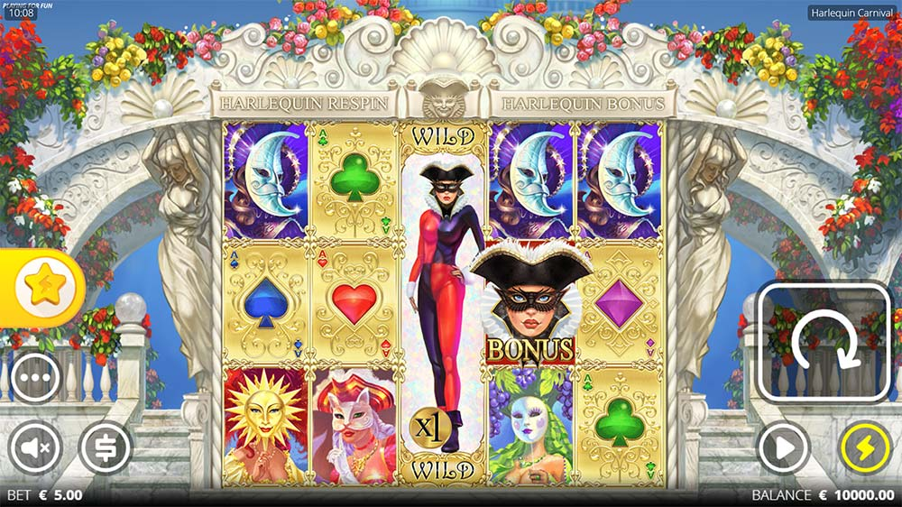 Harlequin Carnival Slot - Base Game