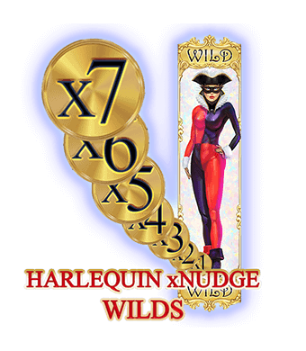 Harlequin Carnival Slot Nudging Wilds