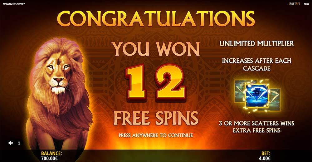Majestic Megaways Slot - Free Spins