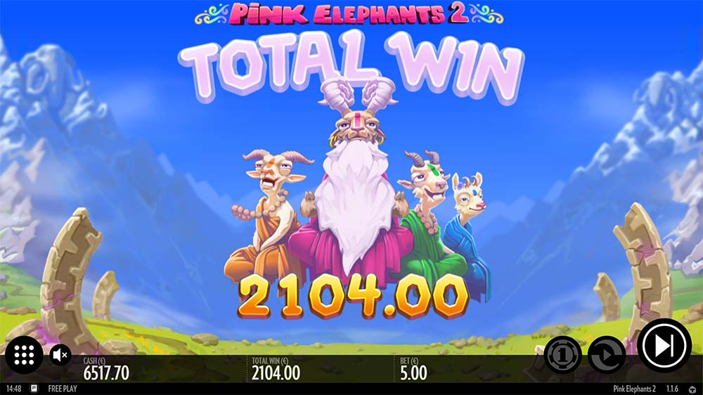 Pink Elephants 2 Slot - Bonus End