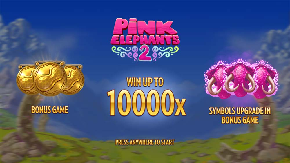 Pink Elephants 2 Slot - Intro Screen