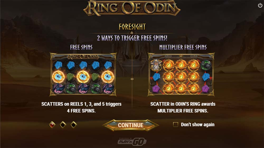 Ring of Odin Slot - Intro Screen