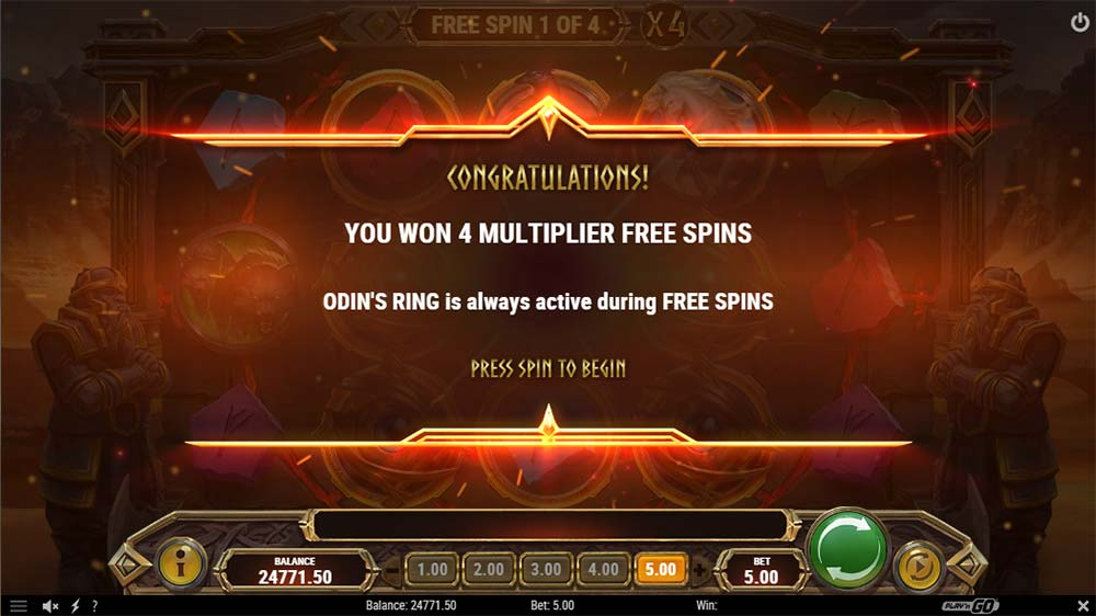 Ring of Odin Slot - Free Spins