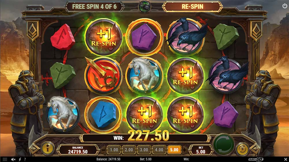 Ring of Odin Slot - Re-Spins Awarded