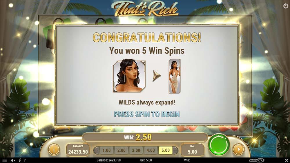 That's Rich Slot - Bonus Won