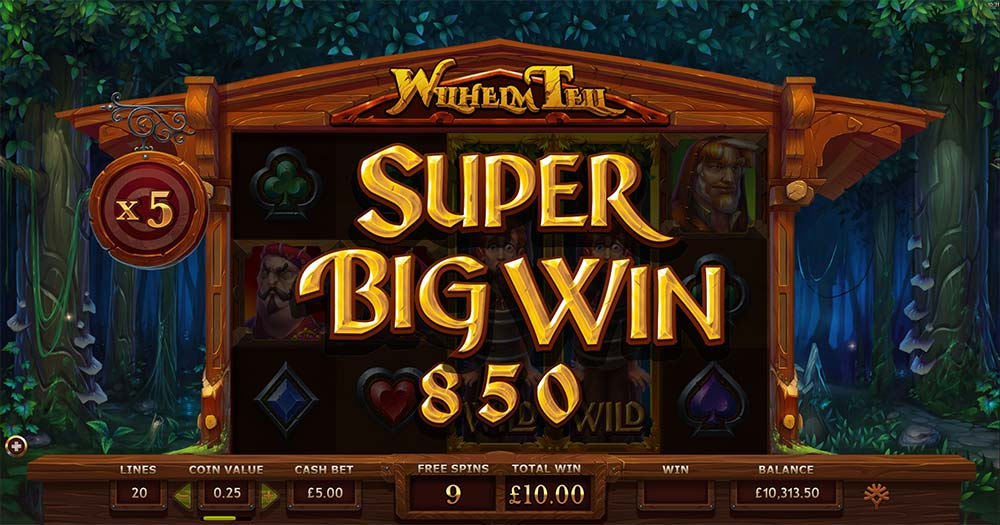 Wilhelm Tell Slot - Super Big Win