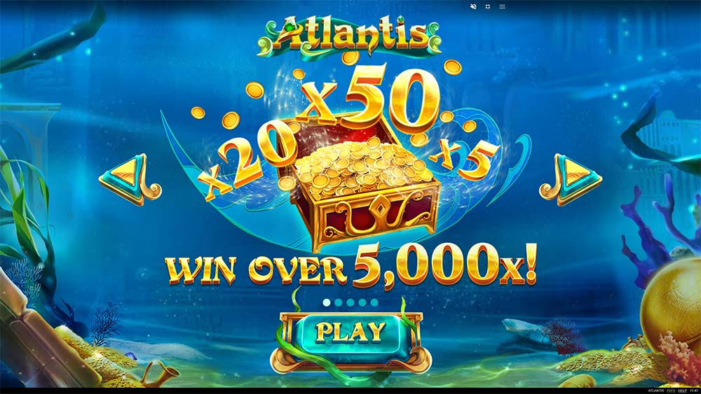 Atlantis Slot - Intro Screen
