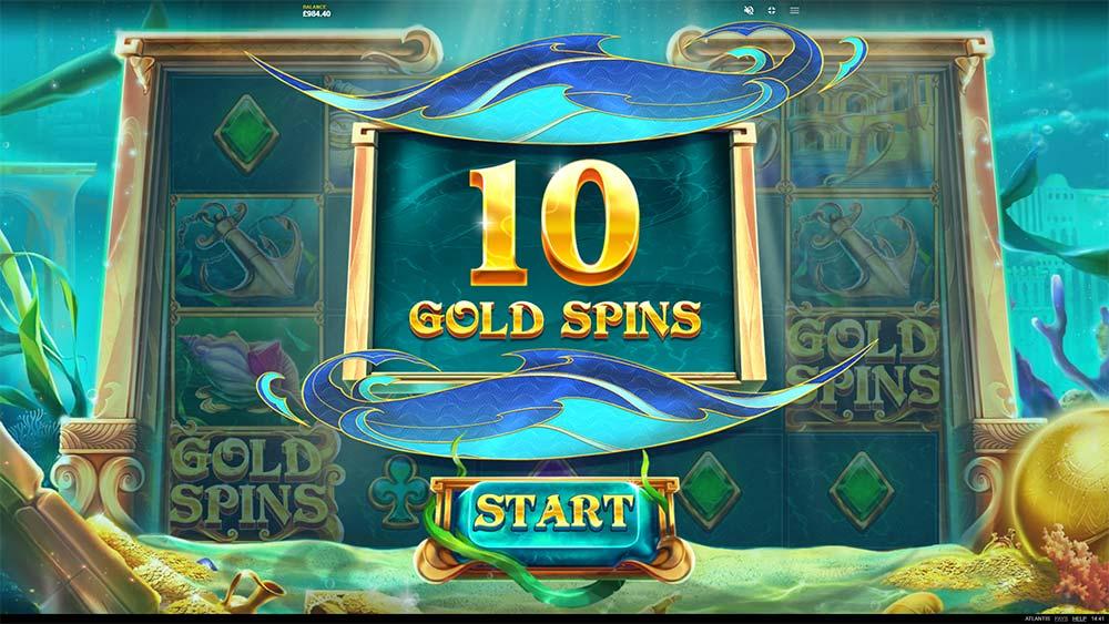 Atlantis Slot - Bonus Triggered