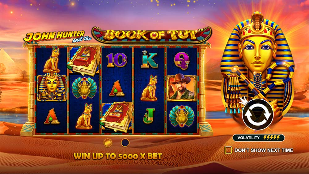Book of Tut Slot - Intro Screen