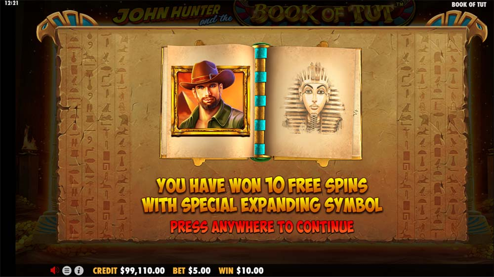 Book of Tut Slot -Symbol Selection