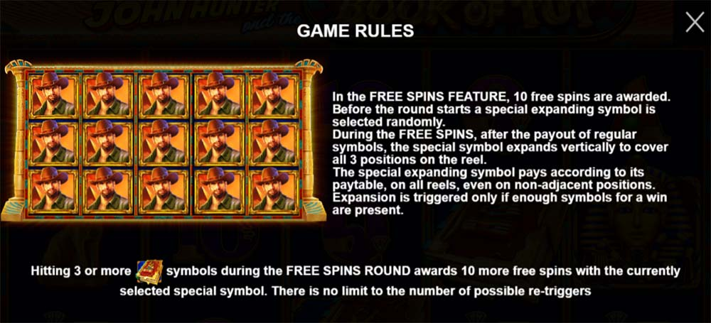 Book of Tut Slot - Bonus Features
