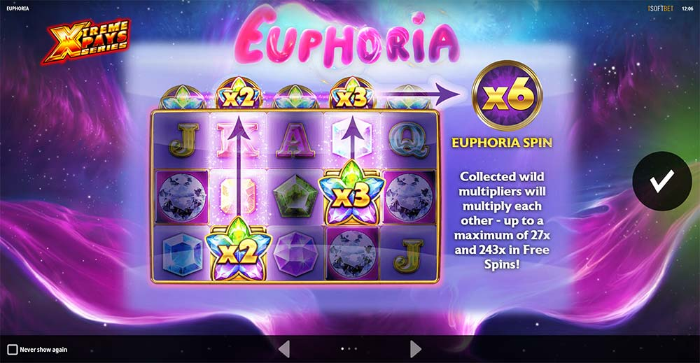 Euphoria Slot - Intro Screen