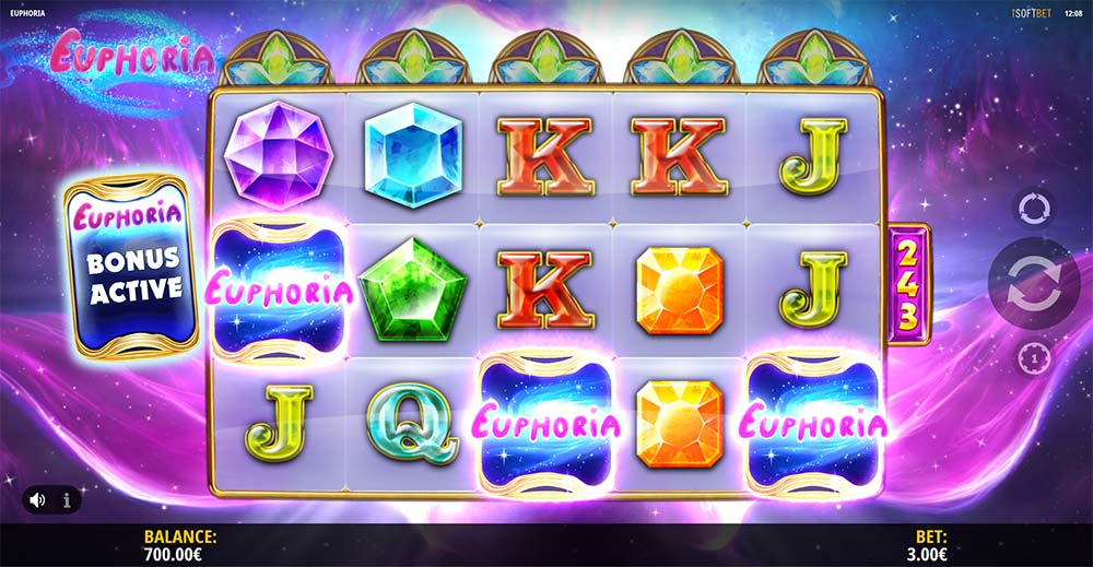 Euphoria Slot - Bonus Trigger