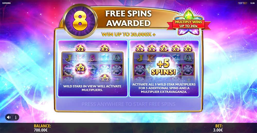 Euphoria Slot - Free Spins