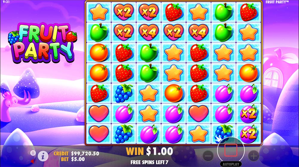 Fruit Party Slot - Free Spins with Multipliers